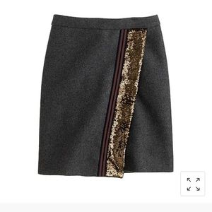 J.Crew | Sequined Origami Skirt